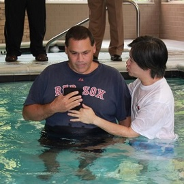 Baptism at The Pool